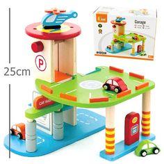 Mini Wooden Garage Playset