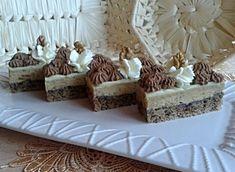 Orechovo-kávovo-rumové rezy (fotorecept) Krispie Treats, Rice Krispies, Cake Cookies, Rum, Bread, Cheese, Sweet, Dios, Candy