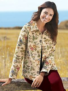 Women's Pagoda Tapestry Jacket, Made in the USA | Norm Thompson
