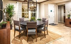 This dining room is perfect for formal and casual meals alike. - Residence 1 at Newbridge at Heritage Lake in Menifee, CA