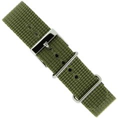 EWP Nylon Strap Watch Band One-Piece Sport Strap Olive Green Stainless Buckle 20 millimeter Clutch Pattern, Diy Clutch, Watch Box, Military Fashion, Watch Bands, Olive Green, One Piece, Watches, Metal