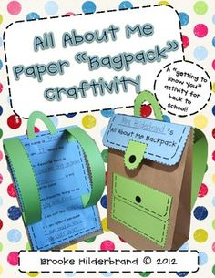 This super-cute backpack craft and learning activity is a great way to build community with your students! It also helps students develop the criti...