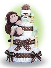 Diaper cakes are super cute and super fun to make. - Click image to find more Kids Pinterest pins