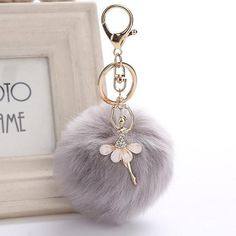 Buy New Dancing Angel Girl Fluffy Pompom Keychains for Keys Rabbit Fur Ball Women Bag Charms Jewelry Gift Pompons Bag Accessories I Love Jewelry, Charm Jewelry, Jewelry Gifts, Jewelry Accessories, Jewelry Design, Gold Jewelry, Modern Jewelry, Handbag Accessories, Cute Keychain