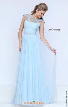 Sherri Hill Cap Sleeved Beaded Dress 50187