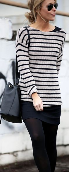 Black And White Nautical Stripe Jumper by Happily Grey
