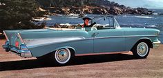 The 1957 Chevrolet Bel Air convertible.