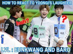 Very rare... Yoongi' laugh is precious
