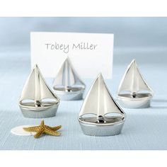 Kate Aspen Shining Sails Place Card Holder (Set of 6)