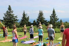 16. Outdoor yoga in the Berkshires is the epitome of relaxing.
