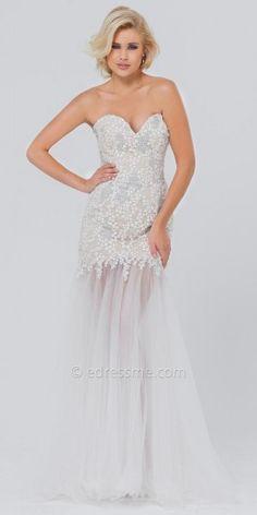 Sweet Tulle Trumpet Prom Gown by Tony Bowls Paris #dresses #fashion #designer #beauty #designerdresses #tonybowls #edressme