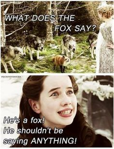"What does the fox say? Of course he says ""LONG LIVE KING RICHARD!"" But that's neither here nor there."