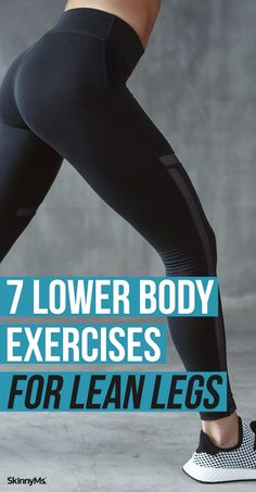 Whether you're looking to slim down or just want to find comfort in your favorite pants, these 7 lower body exercises for lean legs will get the job done. Back Fat Workout, Workout For Flat Stomach, Butt Workout, Beginner Workout At Home, Workout For Beginners, Beginner Workouts, Leg Workouts, Tone Inner Thighs, Summer Legs