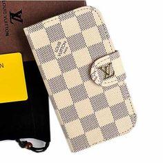 Fashion Style Damier Azur Designer Wallet Louis Vuitton (LV) Galaxy S4 Cases  | Apple iPhone6S Cases