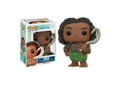 Funko POP Disney: Moana - Maui Action Figure: From Moana, Maui, as a stylized POP vinyl from Funko. Stylized collectable stands 3 ¾ inches tall, perfect for any Moana fan. Collect and display all Moana POP Vinyls. Collect and display all Moana POP Vinyls. Moana Disney, Disney Pop, Disney Pixar, Disney Films, Funk Pop, Figurine Pop Disney, Pop Figurine, Figurines D'action, Pop Vinyl Figures