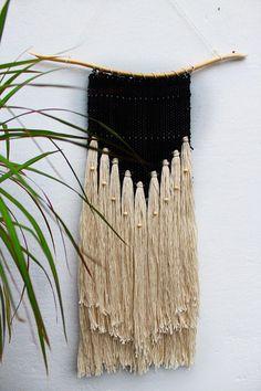 Wall hanging weave Bohemian weave Tapestry Fibre art