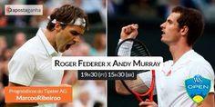 Duelo de Estrelas entre  @rogerfederer & @andymurray   Quem achas que está mais forte? Quem sairá vencedor?  Partilha connosco a tua opinião! 8-)   #ténis #RogerFederer #AndyMurray #apostas #tennis #desporto #apuestas #ATP #bets #sportsbetting