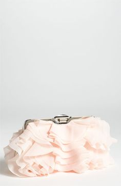 blush pink frills clutch - perfect for the bride!