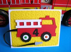 Fire Engine Truck Birthday Invitation. $26.00, via Etsy.