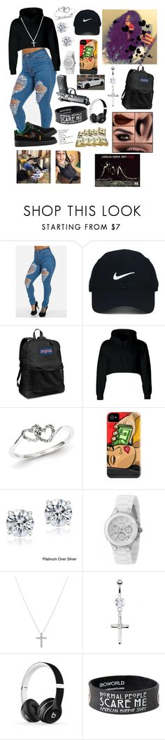 """""""#18"""" by forever-cia ❤ liked on Polyvore featuring NIKE, Nike Golf, JanSport, Kevin Jewelers, Icz Stonez, DKNY, Nadri, Coven, xO Design and Beats by Dr. Dre"""