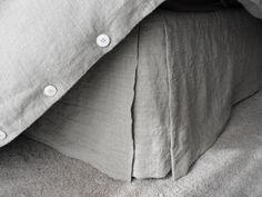 Rough Linen Natural Linen Bedskirt, all-natural, convertible bed skirt Grey Wall Color, Queen Sheets, Bed Sheets, Bed Linen Design, Textiles, Luxury Bedding Sets, Cool Beds, Natural Linen, Linen Bedding