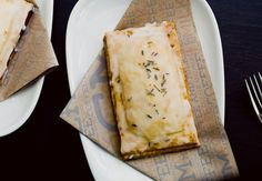 lemon curd and lavender pop tart...   someone take the recipe to Teds Bulletin :-)