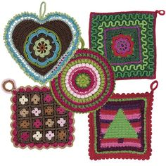 grytlapp fram Crochet Potholders, Pot Holders, Ge Bort, Projects To Try, Blanket, Knitting, Create, Diy, Color