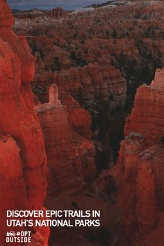 """Planning a trip to Utah soon? Don't miss out on the gem that is Bryce Canyon National Park. Hiking through the whimsical trail is an experience like no other. Need help finding other trails? Click through to OptOutside.REI.com.  Photo credit: ©2015 VisitTheUSA.com from the film """"National Parks Adventure"""""""