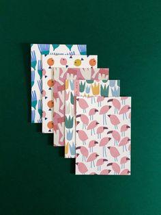 Jessica Nielsen - surface pattern design / Patterns for Parus greeting cards Textile Design, Fabric Design, Tiny Prints, Pink Bird, Catalog Design, Notebook Design, Pattern Illustration, Stuffed Animal Patterns, Stationery Design