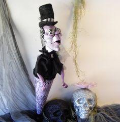 Victorian Phantom Undertaker Art Doll OOAK by PoorLittleLamb