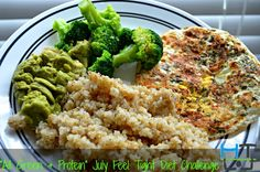 "Check out my 4th of July ""All Green & Protein"" Meal !! Like this post if it looks yummy & Like this post if you're sticking to it today with at least 1 meal of your day!!   More healthy recipes at http://www.hangtightwmarc.com"