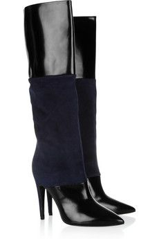 These are on the WISH LIST    Pierre Hardy: Glossed Leather and Suede Knee Boots