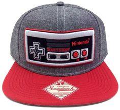 a5507130e10 GREY NINTENDO NES CONTROLLER SNAPBACK HAT CAP NEW SUPER MARIO BROS. ERA  WORLD