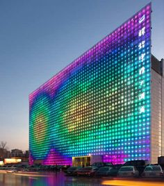 Xicui Entertainment Complex in Beijing - Zero Energy Wall of Solar-Powered Colored LEDs – Sustainable Technology