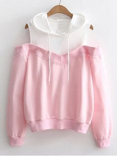 2018 Autumn Women Casual Long Sleeve Pullover Womens Off Shoulder Long Sleeve Hoodie Sweatshirt Hooded Pullover Tops Blouse Crop Top Outfits, Cute Casual Outfits, Stylish Outfits, Girls Fashion Clothes, Teen Fashion Outfits, Girl Outfits, Trendy Fashion, Teenager Fashion, Women's Fashion