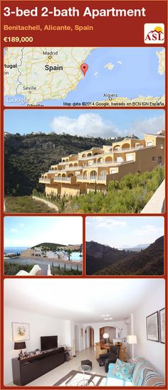 3-bed 2-bath Apartment in Benitachell, Alicante, Spain ►€189,000 #PropertyForSaleInSpain