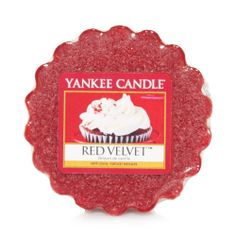 Red Velvet Yankee Candle Company Tarts® Wax Melts - A most decadent creation of creamy frosting atop moist cake and a touch of brown sugar. So very sweet.
