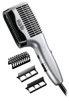 $19.86-$24.99 Andis 80345 Styler Hair Dryer - Andis 80345 Styler ceramic dryer with boar brush attachment has 1875 Watts of drying power.  There are 3 attachments included: 100% boar bristle attachment leaves hair smoother; great for thick hair.  It has a wide tooth attachment for detangling, and a fine tooth attachment for smoothing hair.  It has high velocity airflow and 3 air, heat settings. Th ...