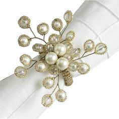 DIY ?? Christmas berries?? Assure your table is well dressed for dinner with Pier 1 Iridescent Spray Pearl Napkin Rings