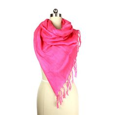 Linen Scarf Fuchsia now featured on Fab.