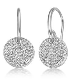 Ava Diamond Disc Earrings