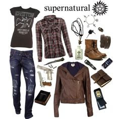 supernatural inspired comfy. I'd go for some more fitted jeans though... but LOVE!!!