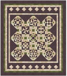 """Persimmon Quilts """"Purple Sage""""            Block of the Month 2013/14"""