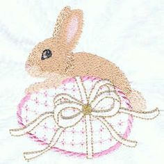 Easter Bunny Free machine embroidery design pattern