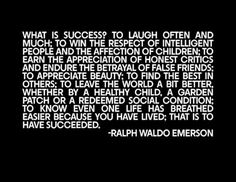 Image result for ralph waldo emerson success quote