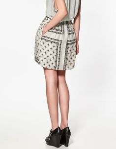 Scarf print skirt by Zara