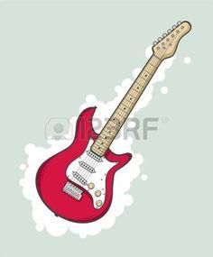 gitaar%3A+Gestileerde+elektrische+gitaar+in+roze+kleur