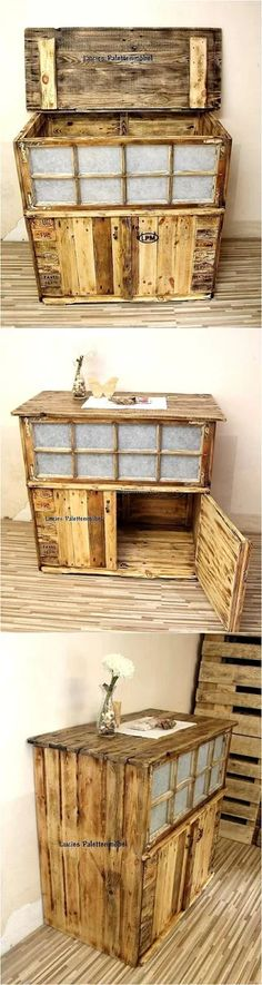 wooden pallet entryway table