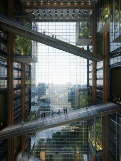 Green Architecture, Futuristic Architecture, Concept Architecture, Amazing Architecture, Landscape Architecture, Architecture Design, High Building, Arch Interior, Futuristic City