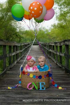 Twin 1st birthday photo shoot | Mindy Smith Photography 2015